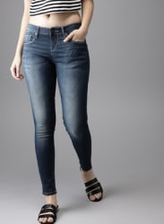 Blue Skinny Fit Mid-Rise Ankle Length Clean Look Stretchable Jeans