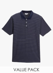 Pattern And Stripe Polos Two Pack