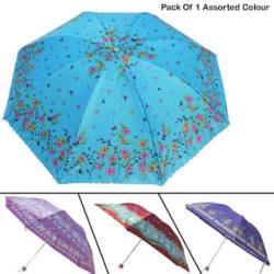 Elligator 3 Fold Sun&Rain Travel Umbrella With Compact & Lightweight (Colour-Assorted Only One Umbrella)