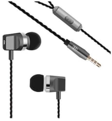 Jango J-1 Noise Isolating Metal Earphones With Super Bass & Mic