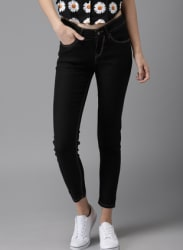 Navy Skinny Fit Mid-Rise Ankle Length Clean Look Stretchable Jeans