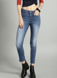 Blue Slim Fit Mid-Rise Clean Look Stretchable Jeans