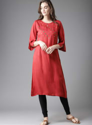 Red Yoke Design Kurta