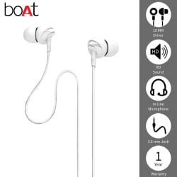 boAt Bassheads 100 In Ear Wired Earphones With Mic (Black)