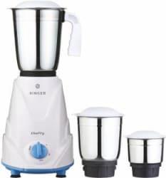 Singer cheffy 500 W Mixer Grinder White, 3 Jars