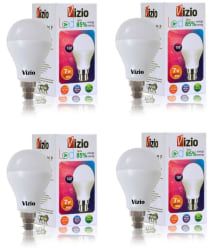 Vizio 7W LED Bulbs Natural White - Pack of 4