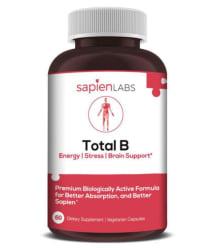 Sapienbody Total B Vitamins B12, B1, B2, B3, B5, B6, B7, B9 60 no.s Vitamins Capsule