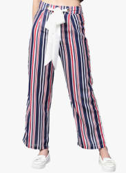 Multicoloured Striped Coloured Pants