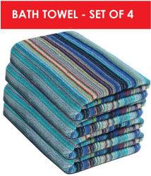 Fresh From Loom Set of 4 Terry Bath Towel Blue