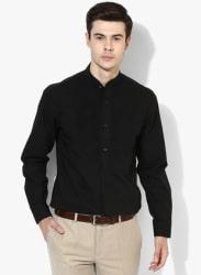 Black Solid Slim Fit Formal Shirt