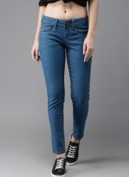 Blue Skinny Fit Mid Rise Jeans