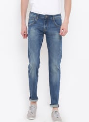 Blue Slim Fit Low-Rise Clean Look Stretchable Jeans