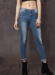 Blue Mid-Rise Regular Fit Jeans