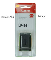 Canon LP-E6 Original Battery for EOS 5D Mark II, 5D Mark III, 60D, 6D and 7D DSLR Cameras