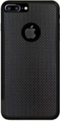 Power Back Cover for Apple iPhone 8 (Black, Silicon, Rubber)