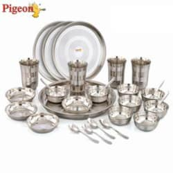 Pigeon Lunch Set Pack of 28 Dinner Set (Stainless Steel)