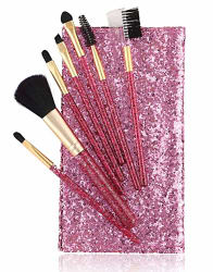 Foolzy BR-16B Professional Makeup Brushes Kit, Purple (Set of 7)