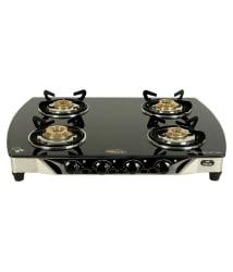 SAFELINE SQUARE BLACK 4B 4 Burner Manual Gas Stove
