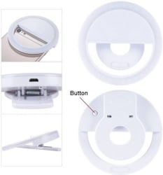SunDel LED Rechargable Selfie Ring Light Flash for Musically & Smule on Mobile, Tablet, Laptop