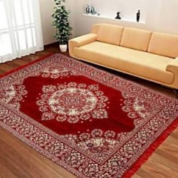 ROYAL DÉCOR Multicolor Chenille Carpet (150 cm X 210 cm)