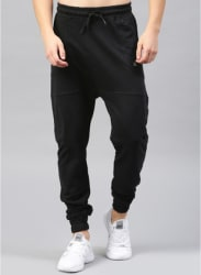 Black Solid Jogger