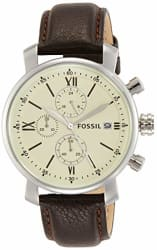 Fossil Analog Off-White Dial Men s Watch - BQ1007