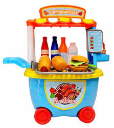 Toyshine Bucket Cum Barbeque Kitchen Set Play Cart Pretend Play Set Toy