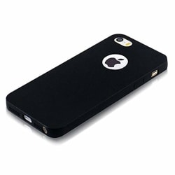 Elv Ultimate Protection Super Slim Anti-slip Matte Finish Coat Back TPU Case Cover for Apple iPhone SE / 5S / 5 - Black