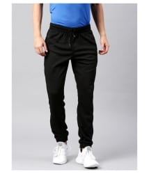 22K Black Cotton Lycra Trackpants