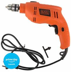 Black + Decker TB555 10mm 550-Watts Reversible Hammer Drill (Orange, 2-Pieces)