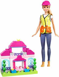Barbie Builder Doll and Playset, Multi Color