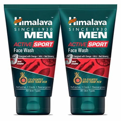 Himalaya Men Active Sport Face Wash, 100ml (Pack of 2)