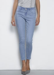 Blue Darcy Skinny Fit Mid-Rise Clean Look Stretchable Jeans