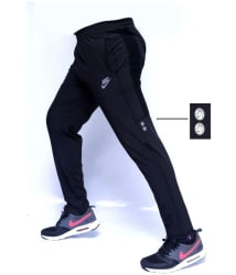 Black Polyester Lycra Trackpants