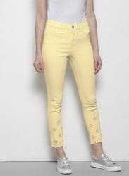 Yellow Cropped Frankie Jeggings