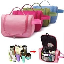 Travel Cosmetic Organiser for Toiletry Make Up Kit pouch bag case kit
