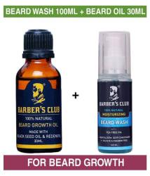 Barber s Club Beard Wash 100 ml + Beard Growth Oil 30 ml