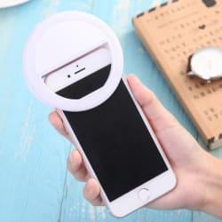 ShutterBugs LED Rechargable Selfie Ring Light Flash for Musically & Smule on Mobile, Tablet, Laptop