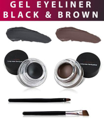 Miss Rose 24 H Long Lasting 2in1 Gel Eyeliner Black & Brown