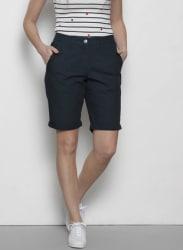 Navy Blue Solid Regular Fit Hot Pants Shorts