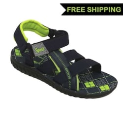 Svaar Black and Green Boys Floater Sandals