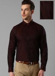 Maroon Slim Fit Formal Shirt