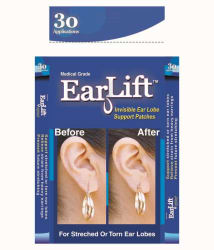 EarLift U.S.A Invisible Ear Lobe Support Patches - 30 Patches