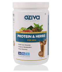 OZiva Protein & Herbs,Grass Fed Whey 1 kg Chocolate