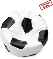 Star XXL Bean Bag Cover (Without Beans) (White, Black)