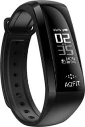 AQFIT M2 Fitness Smart Band Black, Red Strap, Size : Free Size