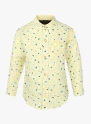 Yellow Regular Fit Casual Shirt