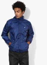 Navy Blue Waterproof Rain Jacket