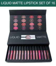 Huda Beauty Liquid Matte Lipstick SPF 15 Collection Set of 16