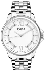 Tycos White Dial Stainless Steel Chain Analog Watch